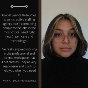 Social Media Specialist, Kristy R. enjoys her experience with GSR, especially during these unprecedented times.