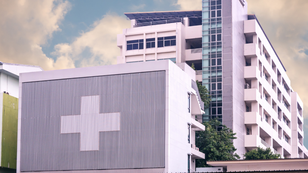 A hospital for healthcare professionals.