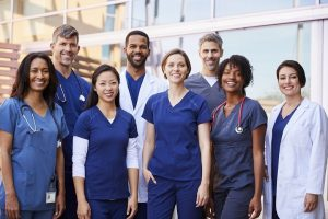 A diverse group in the medical field to reflect those who benefit from our staffing services